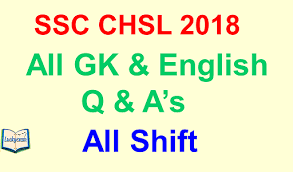 SSC CHSL Questions Asked 17th March 2018