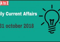 Current affairs 31st October 2018
