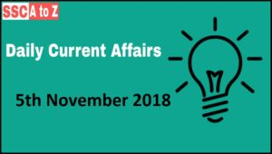 5th November 2018 Gk and Current affairs