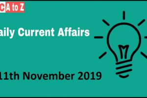 Current affairs 11th November 2018