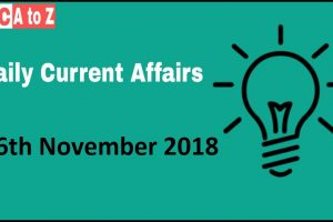 Current affairs 16th November 2018