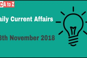 Current affairs 18th November 2018