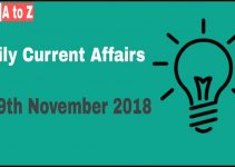 Current affairs 19th November 2018
