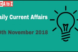 Current affairs 20th November 2018