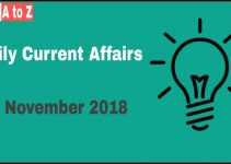 Current affairs 22th November 2018