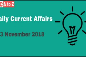 Current affairs 24th November 2018