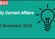 Current affairs 26th November 2018