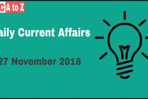 Current affairs 27th November 2018