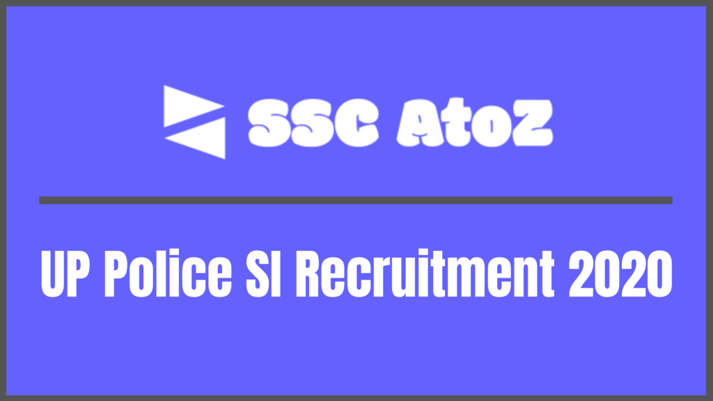 UP Police SI Recruitment 2020